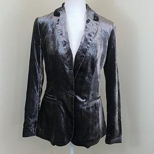 NWT! Anthropologie Sz 2 Grey Velvet Blazer